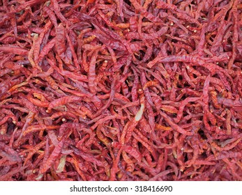 red dried chili  background