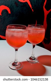 red drinks cocktail