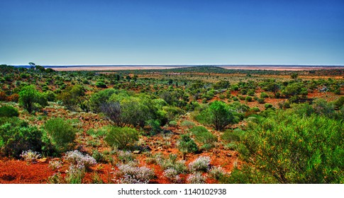 The Red earth of the Kalgoorlie landscape Western Australia