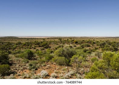 The Red earth and  landscape of the Kalgoorlie  Goldfields ,  Western Australia