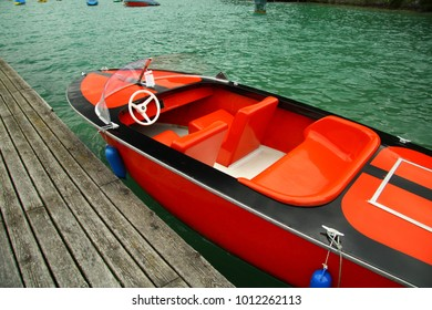 Red electric boat