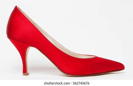 red elegant women shoe isolated with shadows