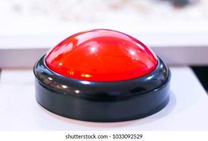 Red emergency stop and start vintage button