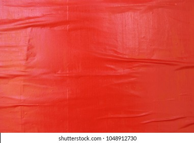 red empty weathered wrinkled street poster texture background