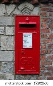 Red English / British Post box