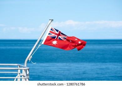 Red Ensign Australian Flag on Boat