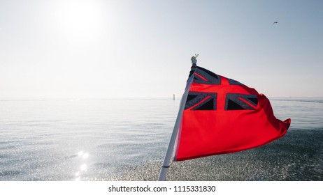 Red Ensign Flag at Sun Rise