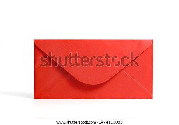 Red envelope on white background.