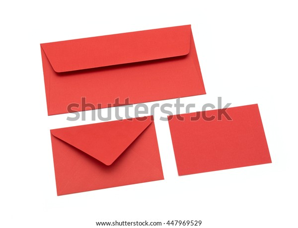 Red envelope on a white background