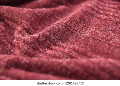 Red fabric in full frame