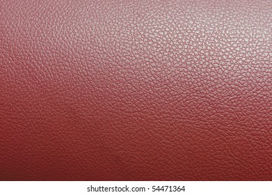 Red fake leather
