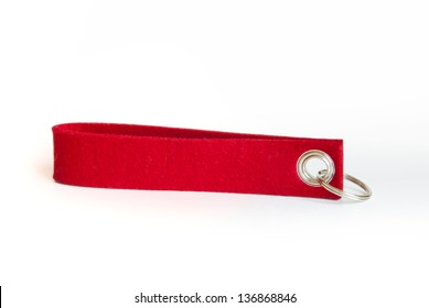 Red felt key chain - advertising giveaway