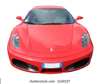 Red Ferrari 430 with Italian plate