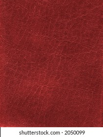 Red fine leather texture background