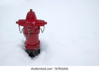Red Fire Hydrant in Snow