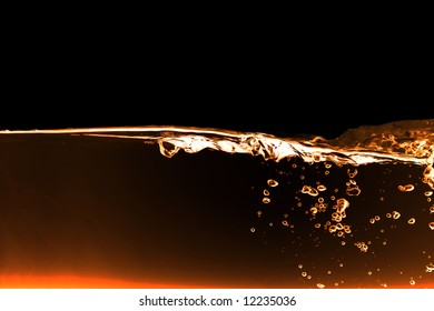 A red fire water background abstract