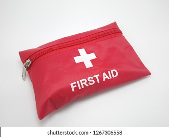 Red first aid kit pouch