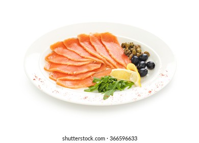 Red fish sliced