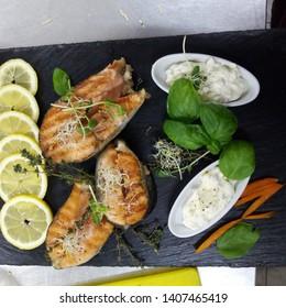 red fish steak micronutrient sauce