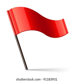 Red Flag Icon. Raster version