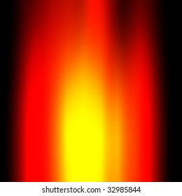 red flames with yellow glow and black surrounding