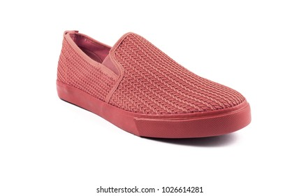 red flat shoe for men