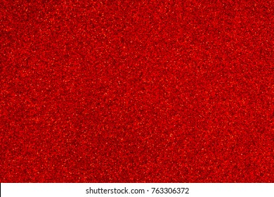 Red Foil Background Or Texture Glitter Sparkle Blurred Lights Abstract Paillette Luxury Shiny Wallpaper. Merry Christmas And Happy New Year Card Design Holiday Celebration Art Backdrop Vintage Wall