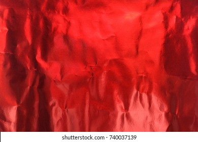 Red foil paper texture for text and background