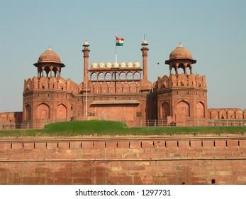 Red Fort in Delhi in India