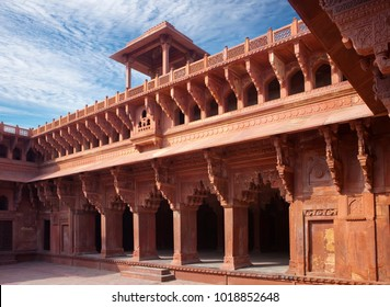 Red fort inside. Agra. India