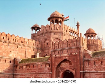 """RED FORT""-The Red Fort is a historic fort in Delhi in India. It was the main residence of the emperors of the Mughal dynasty for nearly 200 years, until 1856.It was built in between 1639 to 1648"
