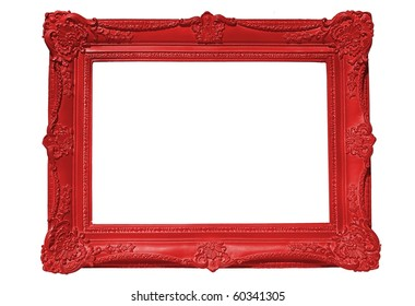 Red Frame, Isolate on White, blank for your copy