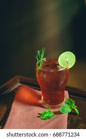 Red Fresh Cocktail with Lime