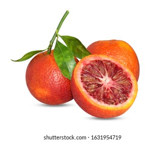 Red Fresh orange isolated on white background and PNG for product packaging design with high quality