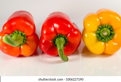 Red fresh peppers