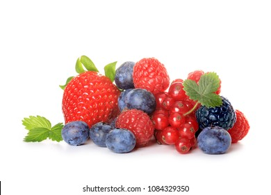 red fruits on white background
