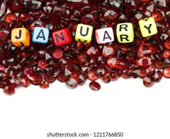 Red garnet zodiac birthstone of january,capricorn gemstone,red background