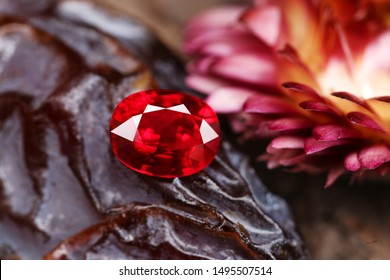 Red Gemstone RUBY Beauty shot