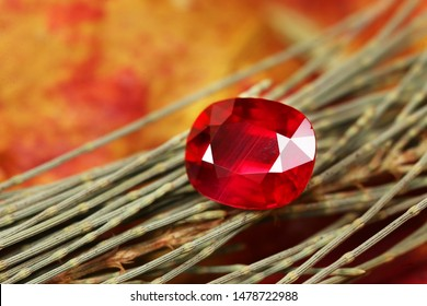 Red gemstone top Ruby gemstone natural