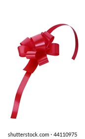 Red gift ribbon isolated