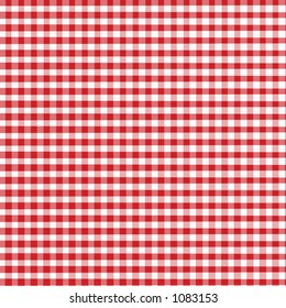 Red Gingham - Digitally Created with slight fabric texture