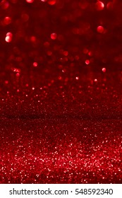 red glitter abstract background with bokeh defocused lights christmas