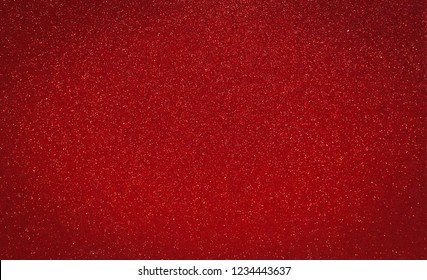 red glitter background. Chritsmas, New Year and Valentine's day of red glitter background. Closed up glittery texture pattern.
