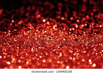 Red glitter with bokeh light background