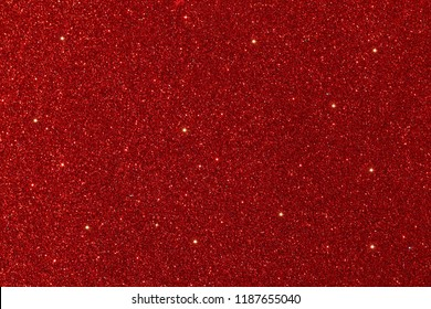Red glitter lights background. defocused