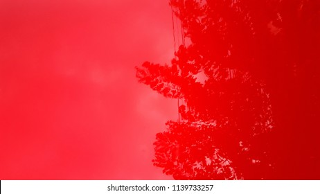 Red glossy surface background, metal red car surface, abstract texture