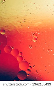 red and gold abstract background, colorful liquids and gradient creative backdrop