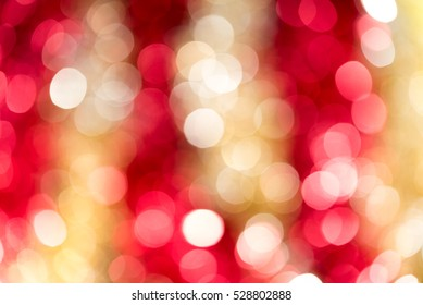 red and gold blur abstract bokeh light backgound form christmas night
