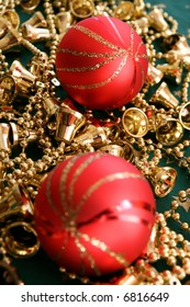 Red and gold christmas decoration