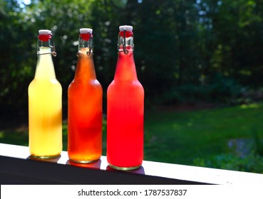Red and Gold Home-brewed Kombucha